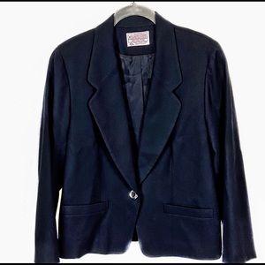 Pendleton Vintage Blk Wool Single Button Blazer SP